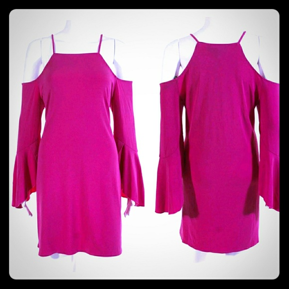 Laundry By Shelli Segal Dresses & Skirts - Laundry Cold-shoulder Bell-Sleeve Dress NWOT